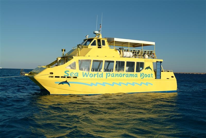 Aluminium Glass Bottom Boat Catamaran